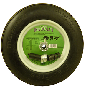 Universal Fit Wheelbarrow Tire - Flat Free