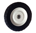 "8x1.75"" Offset Hub and Diamond Tread Semi-Pneumatic Tire"